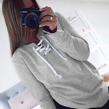 Women Long Sleeve Hoodie Pullover Sweatshirt Jumper Sweater Casual Hooded Tops