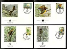 ST VINCENT 1989 BIRDS PARROTS WWF ENDANGERED SPECIES FDC.