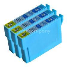 3 kompatible Tintenpatronen cyan für Drucker Epson SX435W SX130 SX125