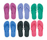 Women's Flip Flops Solid/Bright Colors - Brand New