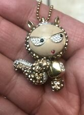 Swarovski Erica Eliot Bejeweled Squirrel Character Pendant Necklace Rare