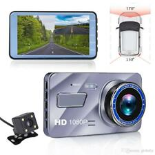 """1080P coche DVR 4"""" Lente Dual Cámara en Tablero Frontal y Trasera Cámara Grabadora de video G-Sensor"""