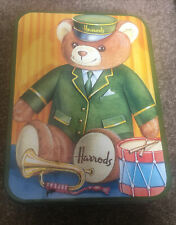 Harrods Vintage Teddy Bear Biscuit Tin Box Advertising Empty