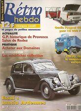 RETRO HEBDO 7 LANCIA ARDENNES 1937 PEUGEOT 404 VOLVO F88 GUEPARD BARQUETTE 4CV