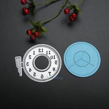 Clock Embossing Cutting Dies Stencil for DIY Scrapbooking Album Paper Card Craft