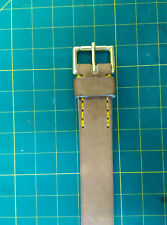 """leather belt vegetable tan. solid brass buckle. heavy 1/4"""" thick leather"""