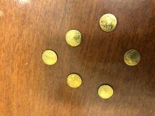 6 MINI GOLD 1907 ST GAUDENS EAGLE LIBERTY 8-22 K BAR