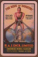 Playing Cards 1 Single Card Old DICKS BELTING Advertising Strongman BODYBUILDER