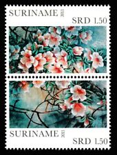 Azaleas Flowers vertical pair of mnh stampa 2011 Surinam #1425 Suriname