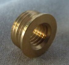"Lamp finial adapter/reducer 3/8""male pipe X 1/4""x27 tpi female brass (per each)A"