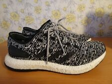 Mens Adidas Pure Boost Black and White Knit Trainers - UK 10