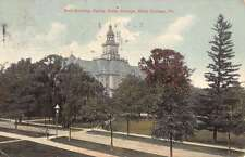 State College Pennsylvania Main Building Street View Antique Postcard K33122