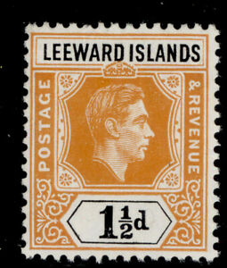 LEEWARD ISLANDS GVI SG102, 1½d yellow-orange and black, NH MINT.
