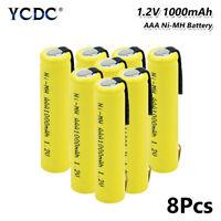 8pcs ni-mh aaa battery high energy 1.2v 1000mah um4 hr03 nd61r am4 batteries