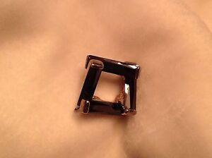 Swarovski black crystal and silver geometric pendant