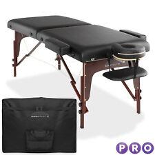 Open Box - Portable Reiki Massage Table w Memory Foam Tilt Backrest & Carry Case