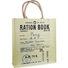 NEW RATION BOOK REUSABLE SHOPPER BAG RETRO VINTAGE WAR SHOPPING OPIE VINTAGE