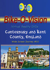 "Bike-O-Vision Cycling Video, ""Canterbury & Kent County, England"" Widescreen DVDs"
