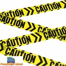 Caution Chevron Tape Halloween Party Decoration Fancy Dress Accessory Prop