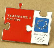 Greece Athens 2004 Olympic Games Pin Teamwork 8 May 2004 <300pcs RARE