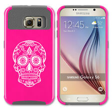 For Samsung Galaxy S5 S6 S7 Edge S8 + Shockproof Hard Case Sugar Candy Skull
