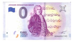 0 Euro Schein Johann Sebastian Bach XEDH 2018-1 Souvenirschein Souvenir o Null €