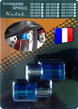 2 Diabolos anodisés Bleus pour béquille stand atelier Honda Suzuki KTM