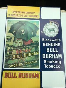 Tobacco Display Box Bull Durham Countertop Display Carton Replica