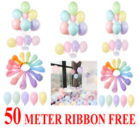 100pcs 5'' Pastel Latex Balloons Macaron Candy Mixed Colored Party Balloon UK