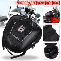 Motorcycle Rear Tail Seat Tank Bag Saddle Helmet Shoulder Carry Waterproof