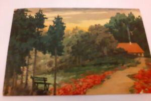COUNTRYSIDE SCENE POSTCARD, IN RELIEF, POST DATED 1911