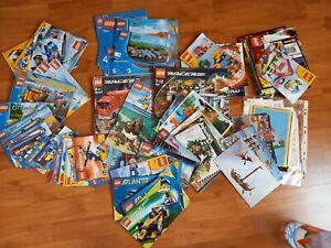 lego - lot de 3 kg de notices + catalogue et documents divers - vrac lot kgs