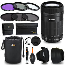 Canon EF-S 55-250mm f/4.0-5.6 IS II f/ Canon EOS Rebel T6 + Accessories KIT