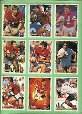 1995 ILLAWARRA STEELERS  SERIES 1 RUGBY LEAGUE CARDS