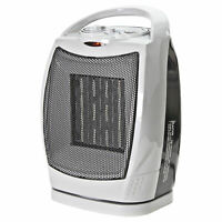 Comfort Zone CZ449E Oscillating Ceramic Heater - 1500W, 70° Oscillation,
