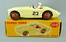 Dinky Toys 109 Austin Healey '100' Sports car in box, Vintage Original