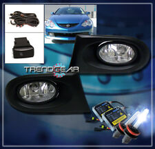 2002 2003 2004 ACURA RSX 2DR JDM BUMPER DRIVING FOG LIGHTS+8000K HID KIT+HARNESS