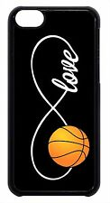 Infinity Forever Love Basketball Black Case Cover for iPhone 4s 5 5s 5c 6 6+