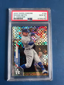 MOOKIE BETTS 2020 TOPPS CHROME X-FRACTOR REFRACTOR #100 PSA 10 GEM MINT