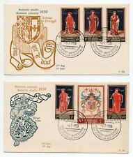 1959 BELGIUM RARE FIRST DAY COVERS, HIGH VALUE STAMPS, SPECIAL CANCELS