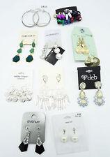 10 Brand New Name Brand Pair Earrings Lot $90 Retail Value #ER2