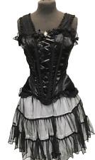 steampunk Black Corset / Rara Skirt Cameo Outfit  M