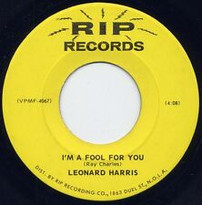 "Rare Soul / Funk - LEONARD HARRIS -""THE JOKE"" / ""I'M A FOOL FOR YOU"" on RIP (M-)"