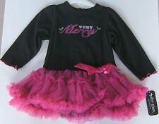 Baby Glam Christmas Dress Very Merry Tutu Skirted Creeper Berry 6 Months 6M