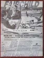9/1982 PUB FAIRCHILD SWEARINGEN MERLIN IVC BUSINESS AIRCRAFT ORIGINAL AD