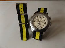 20mm Nato Style MilitaryWoven Nylon Watch Strap watch Band Black/Yellow