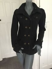 Hurley Size XS Black Cotton Fitted Jacket With Removable Hood