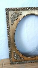 """Vintage French 8"""" x 10"""" Gold Gilt Wood Wall Open Picture Frame"""