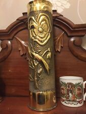 trench art Highly Decorated WWI Shell Case