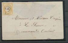 Enveloppe N°59 Oblitéré OR sur le timbre. TB. X2485